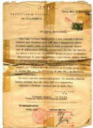 Sworn Certificate of Citizenship, 1932